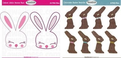 Look At These Fun Easter Digital Cutest Little Bunny Face