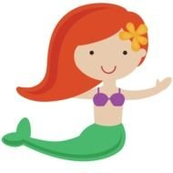 Colorful smiling Mermaid clipart