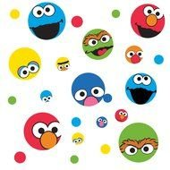 Clipart of the Faces Sesame Street