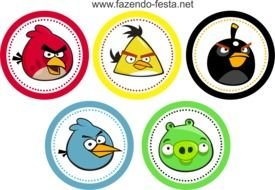 Clipart of the angry birds icons