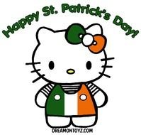 Happy St Patrick\'s Day with Hello Kitty