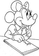 Minnie Mouse Coloring Page drawing