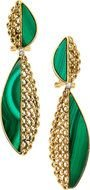 green earrings with stones
