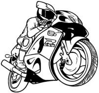 motorcyclist drawing