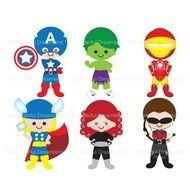 clipart of the cartoon avengers