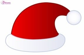 clipart of the santa claus\'s hat