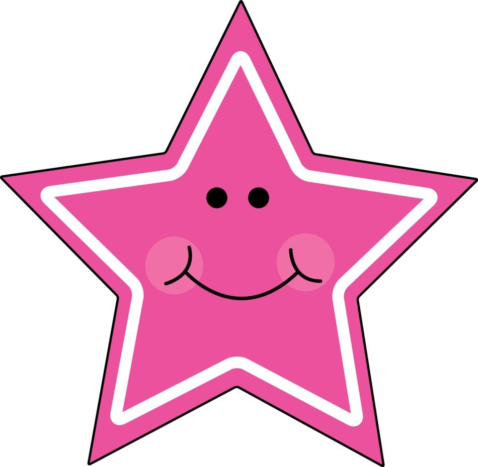 animated pink star