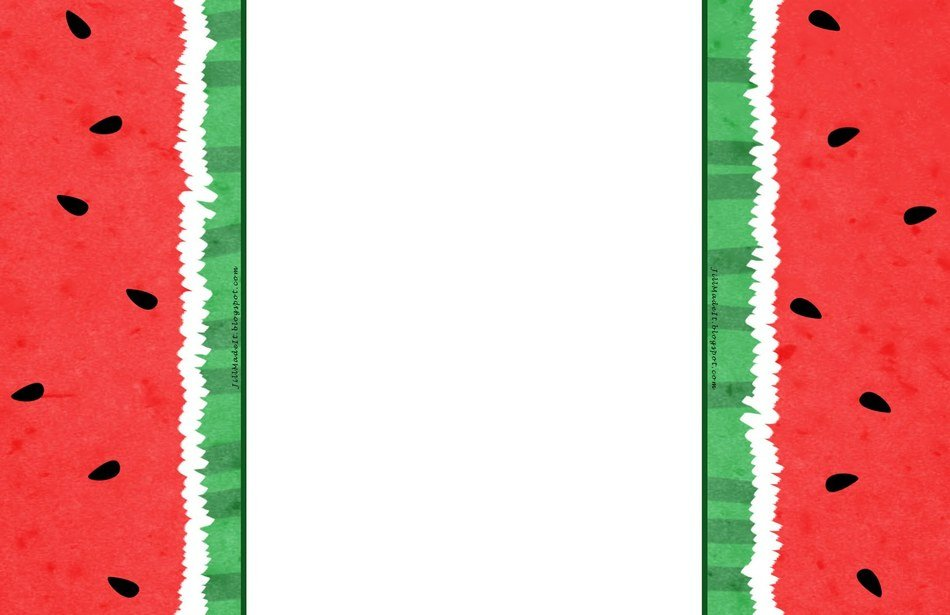 border with watermelon pattern