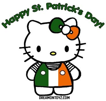 Happy St Patrick's Day with Hello Kitty