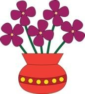 clipart of the Flowers In A Vase
