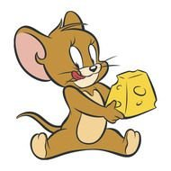 Jerry mouse with a slice of cheese