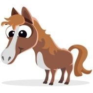 animated funny horse