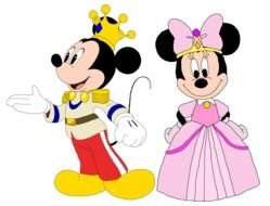 Mickey Mouse and Minnie drawing
