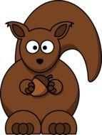 animated squirrel with a nut