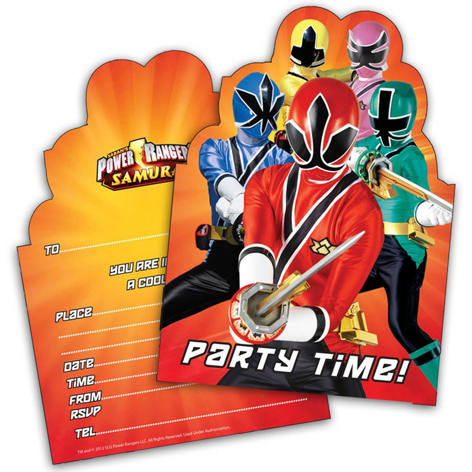 cards with Power Rangers