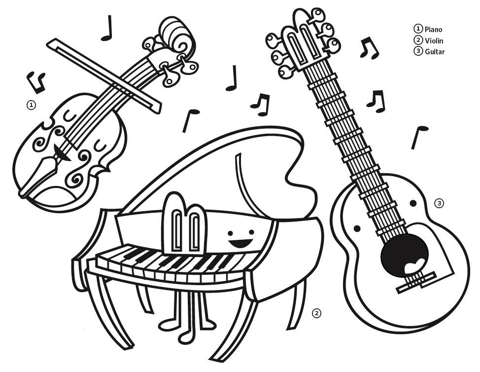 Гифки, музыкальные инструменты картинки распечатать