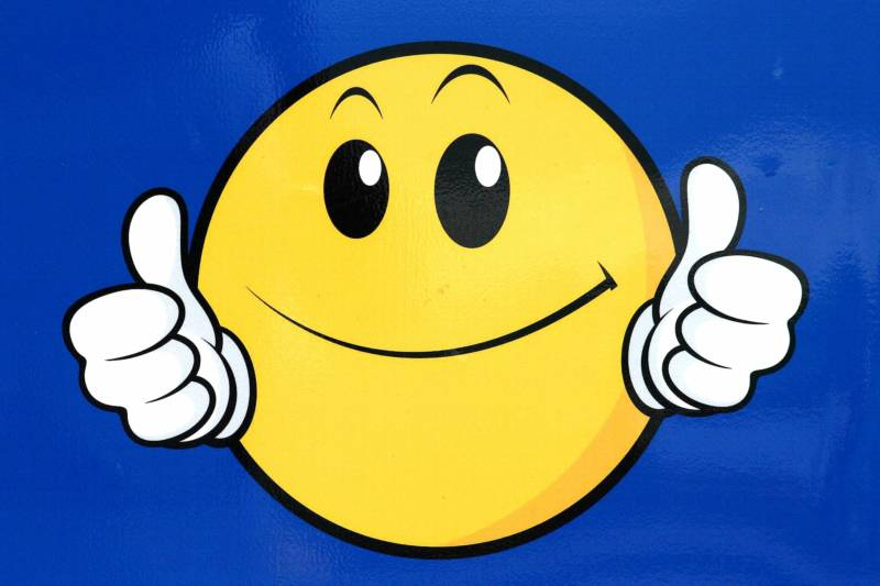 Smiley Face Thumbs Up Black And White Panda Free Clipart Free Image