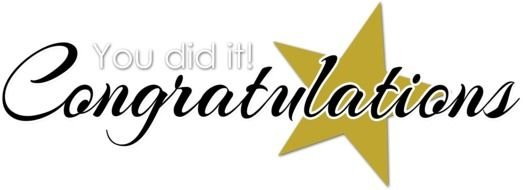 Image result for clipart for congratulations and well done