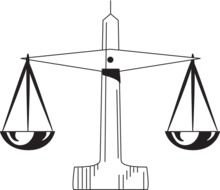 scale of justice 1 at clkercom vector online clipart
