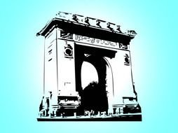 triumphal arch as a picture for clipart