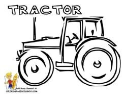 Black and white drawing of the tractor clipart