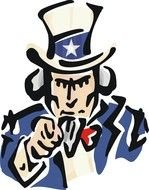 computer generated image Uncle Sam