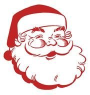 White and red Santa-Claus clipart