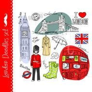 Colorful London,England clipart