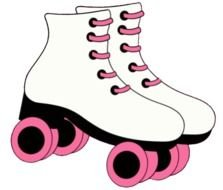 Pink Baby Shoes Roller drawing