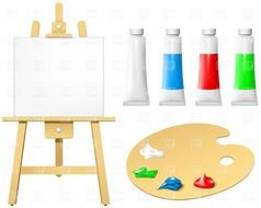 Blank Paint Easel clipart