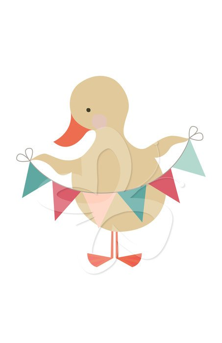 cute ducklings with bunting set