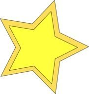 yellow gold star drawing