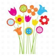Clipart of colorful flowers