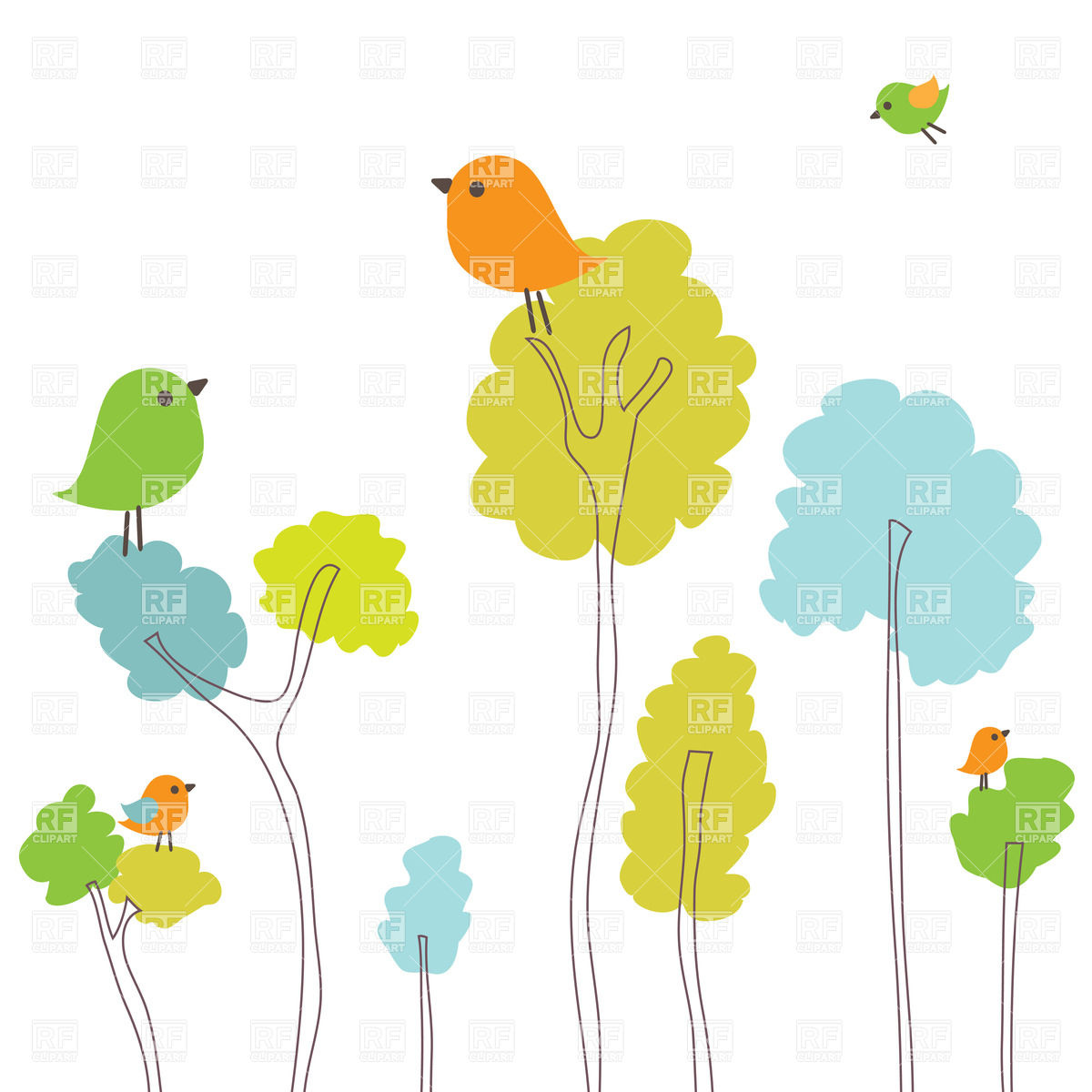 Cartoons Spring Tree Clipart Free Image