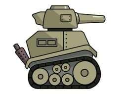 oldtimer cartoon Military Vehicle