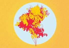 clipart trees with red and yellow leaves