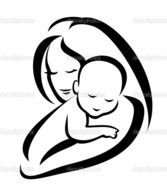 Clipart of Mother And Baby