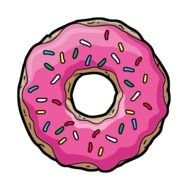 pink doughnut drawing