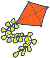 Colorful flying kite clipart