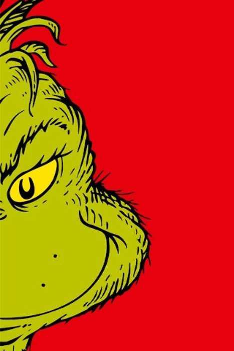 Grinch on the red background