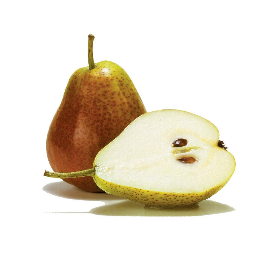 isolated pears on the white background