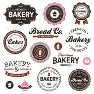 Vintage Bakery Labels — Stock Vector &169 Emberstock 8904525