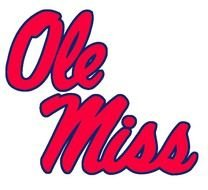 Ole Miss red text drawing