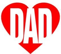 dad word in the red heart