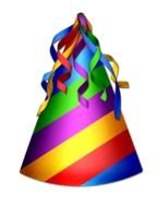Colorful birthday hat clipart