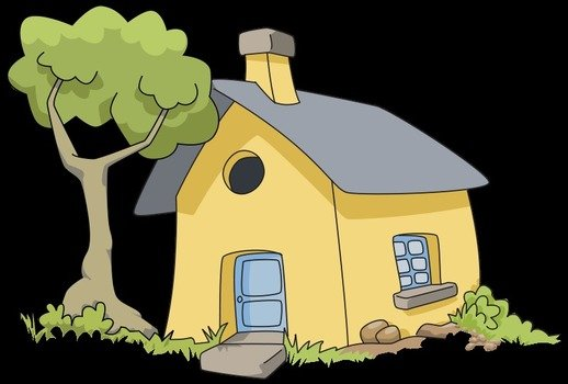 House Clip Art drawing