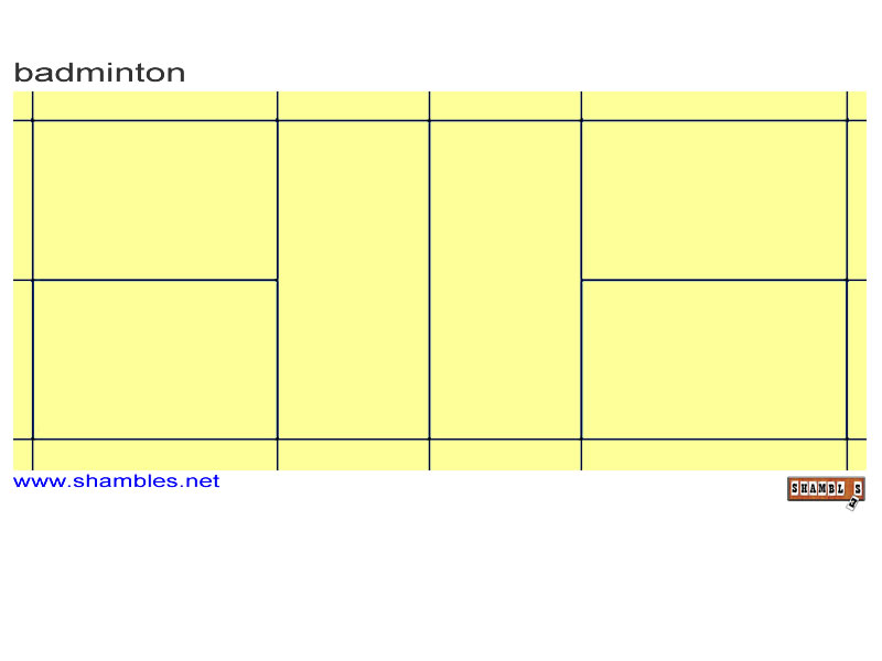 Go Back Gt Gallery For Blank Badminton Court Diagram Free Image