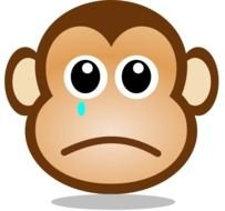 Sad Monkey Face At Clkercom Vector Online