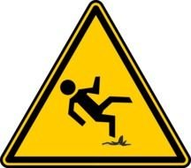 Falling warning sign clipart