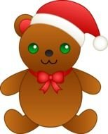 Christmas Teddy bear as clipart